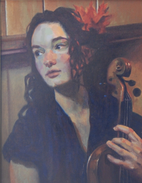 Abby with her Violin
