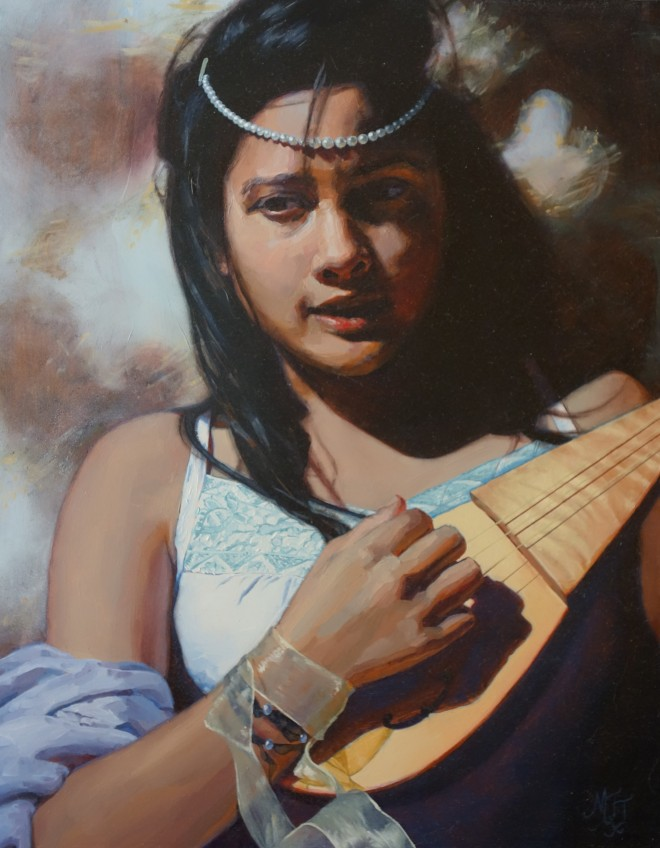 Damsel with a Dulcimer II