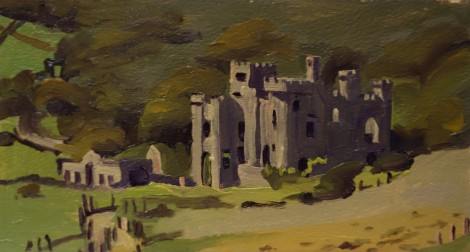 clifden-castle-connemara_oil-on-paper_9-x-4-75