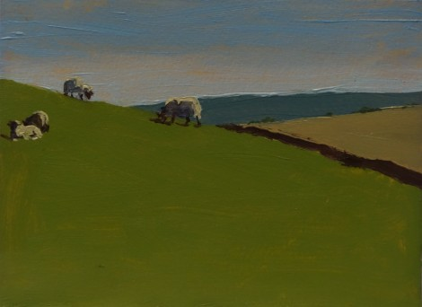 grazing-sheep-in-yorkshire_oil-on-paper_4-5-x-6