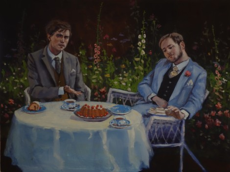 jack-and-algernon-eating-muffins_oil-on-panel_12x16