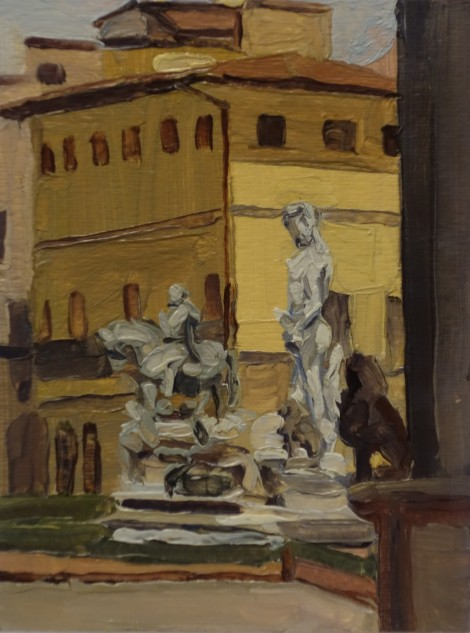 piazza-signoria-florence_oil-on-paper_4-5-x-6