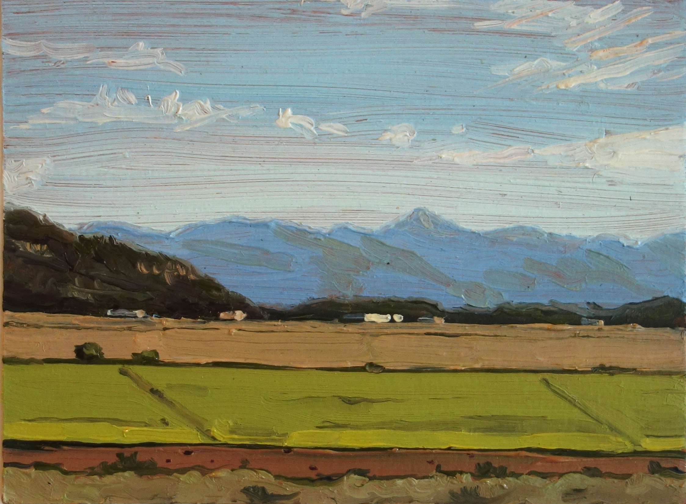 Driggs_Idaho_Fields_Oil_on_Paper_Painting_6x4.5_Maud_Taber_Thomas_Washington_DC_Georgetown