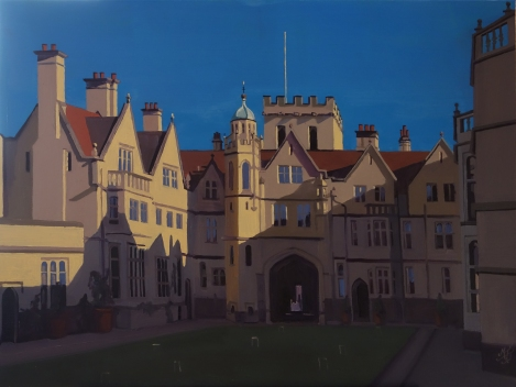 Old_Quad_Brasenose_College_Oxford_Oil_on_Canvas_Painting_30x40_Maud_Taber_Thomas_Washington_DC_Georgetown
