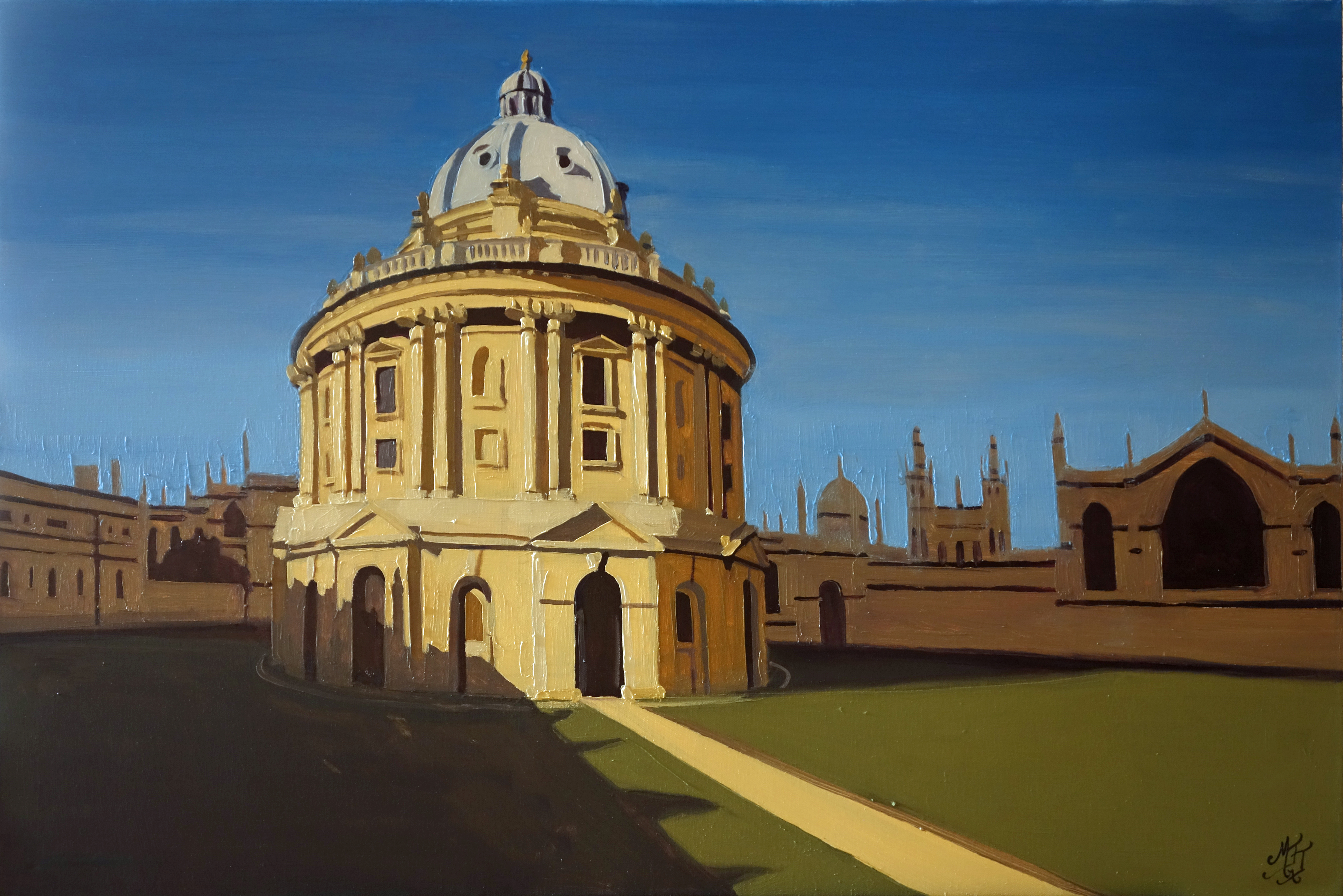 Radcliffe_Camera_Bodleian_Library_Oxford_Oil_on_Canvas_Painting_20x30_Maud_Taber_Thomas_Washington_DC_Georgetown