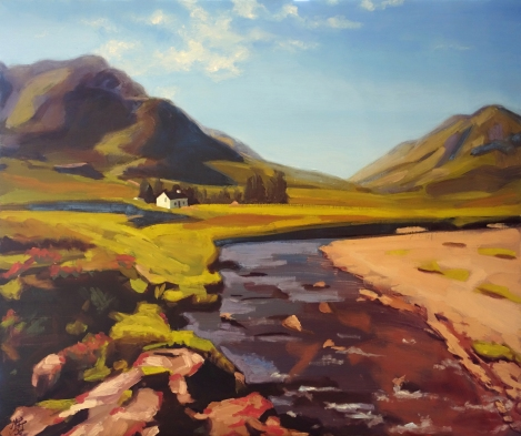 Scottish_Highlands_Oil_on_Panel_Painting_30x40_Maud_Taber_Thomas_Washington_DC_Georgetown