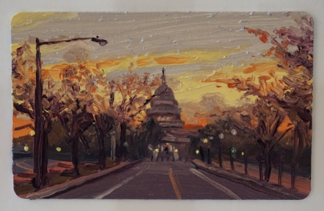 Sunset_US_Capitol_Oil_on_DC_Smartrip_Painting_2x3_Maud_Taber_Thomas_Washington_DC_Georgetown