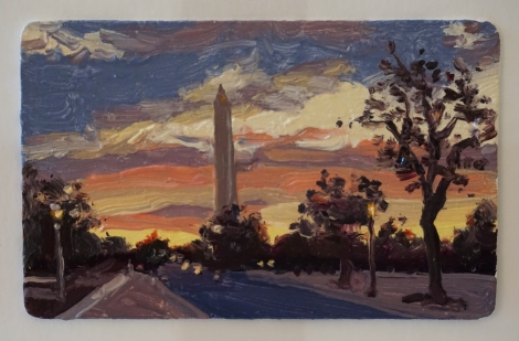 Sunset_Washington_Monument_Oil_on_DC_Smartrip_Painting_2x3_Maud_Taber_Thomas_Washington_DC_Georgetown