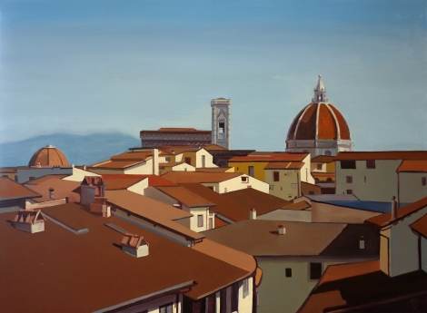 View_of_the_Duomo_Florence_Oil_on_Canvas_Painting_36x48_Maud_Taber_Thomas_Washington_DC_Georgetown