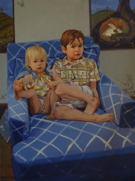 Gideon, Gabriella, and the Runaway Bunny_Oil on Canvas_36 x 48